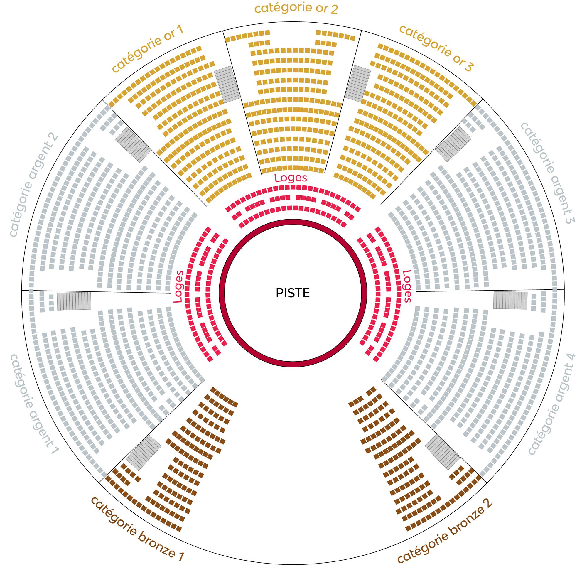 plan du chapiteau Festival du cirque des Mureaux