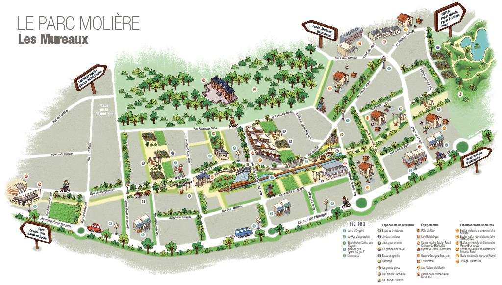 Plan du Parc Moliere